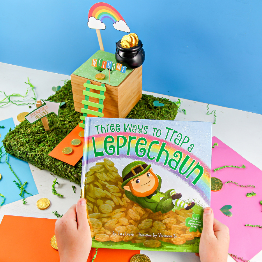 a handmade leprechaun trap and the children's book three ways to catch a leprechaun