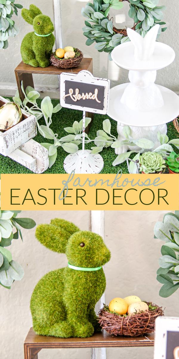 Easter farmhouse decor Pinterest image