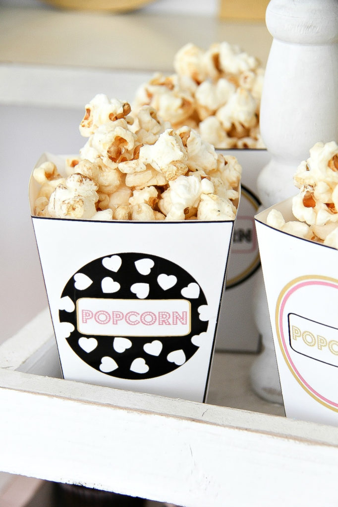 mini custom popcorn tubs that can be printed