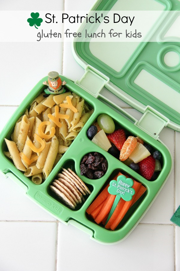gluten free lunch in a bentgo box for st patricks day