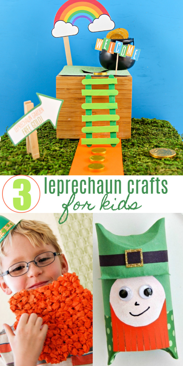 Leprechaun crafts for kids Pinterest image