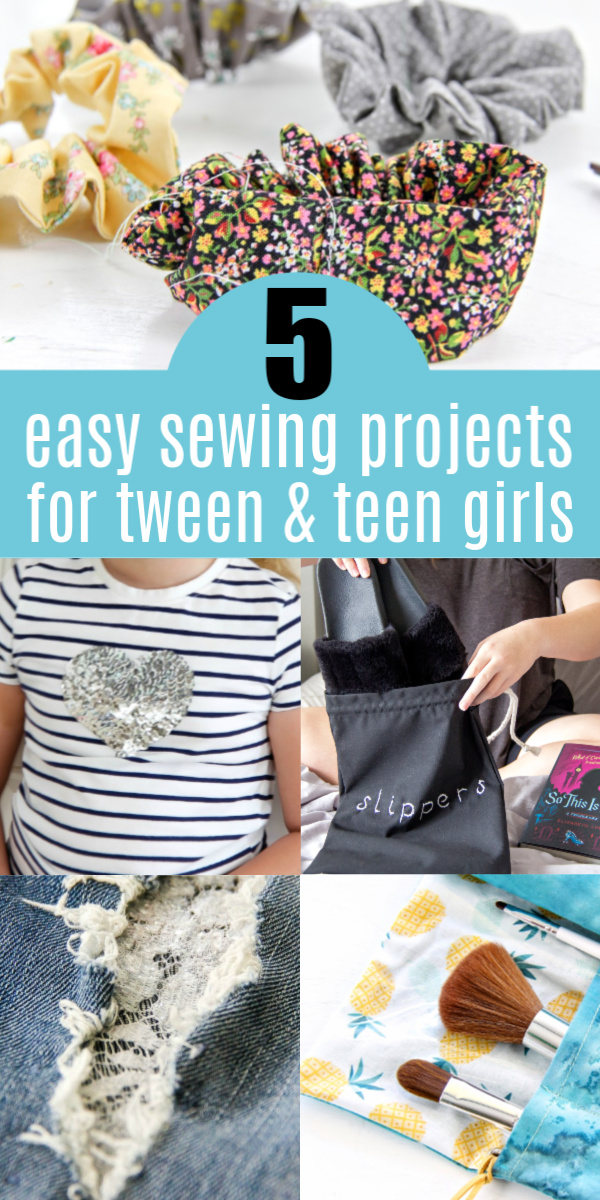 5 sewing projects for teen girls Pinterest image