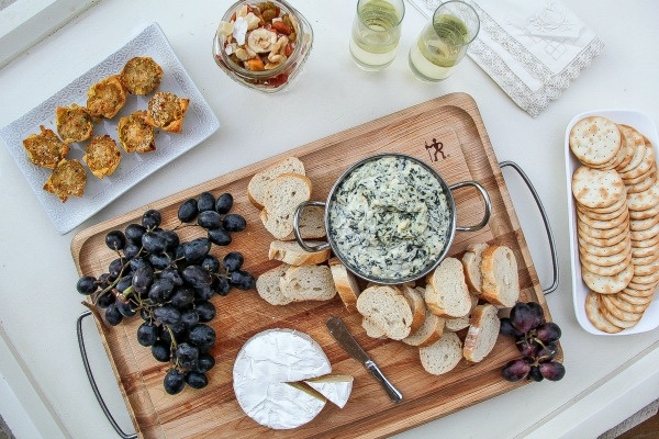 appetizers set out for a party