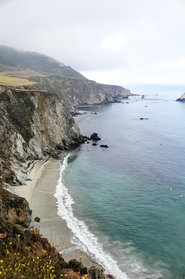 the coast at Big Sur in California