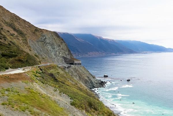 the road along the big sur coastline