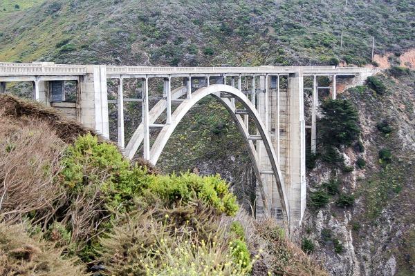 a driving bridge in big sur