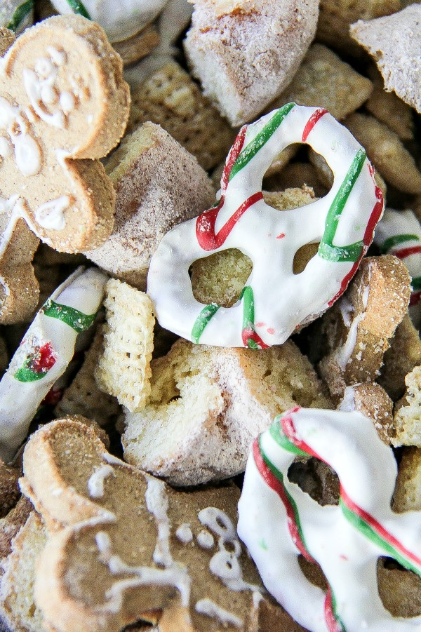 christmas themed chex mix for kids parties