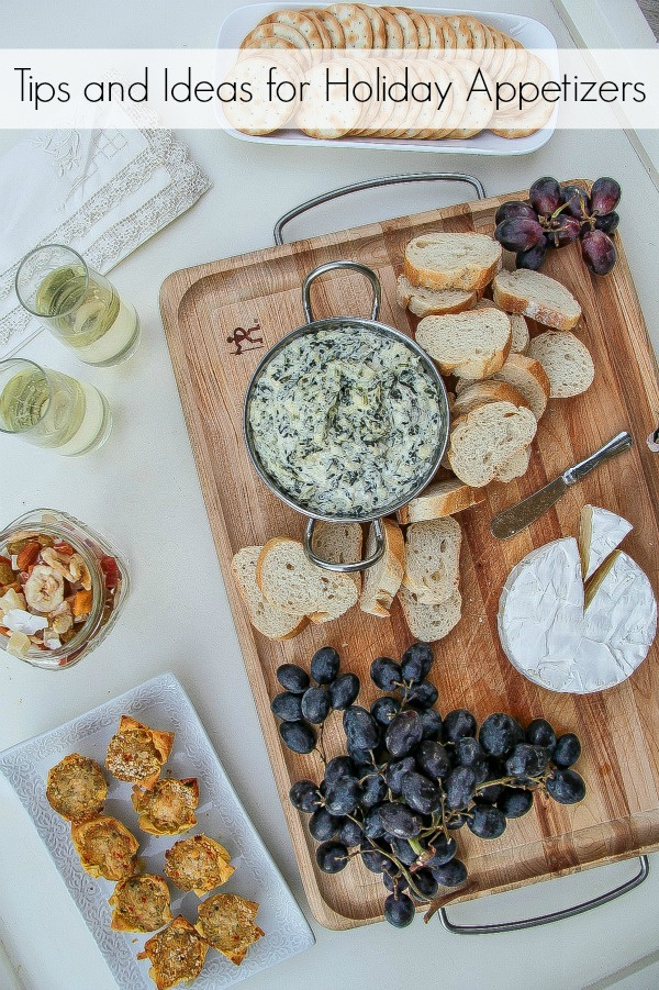 tips and ideas for preparing holiday appetizers