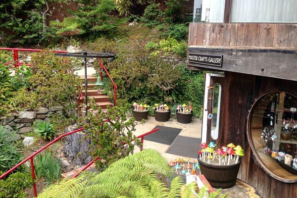 garden courtyard at a gallery in big sur