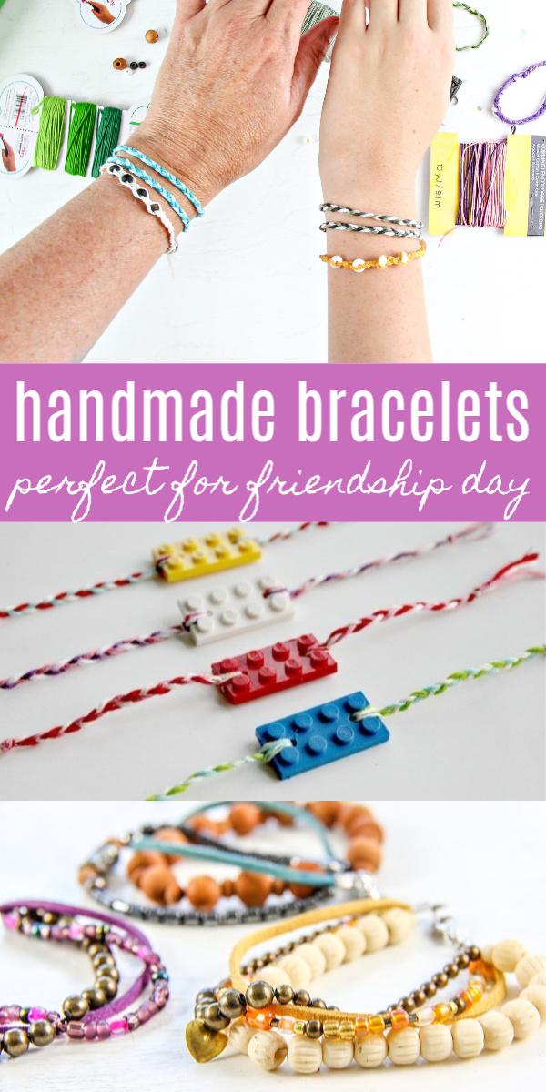 Friendship bracelets Pinterest image.