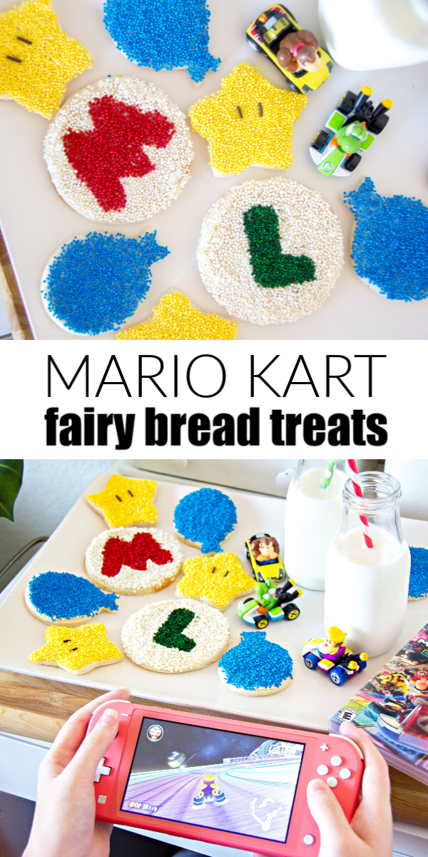 Mario Kart party treat for kids Pinterest image