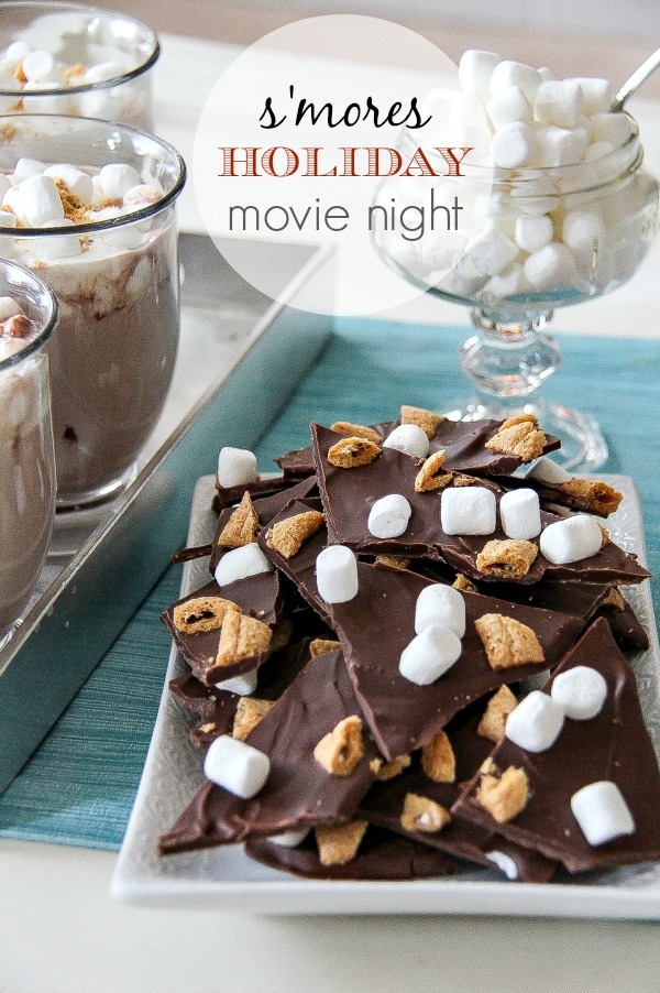 s'mores hot chocolate and bark treats