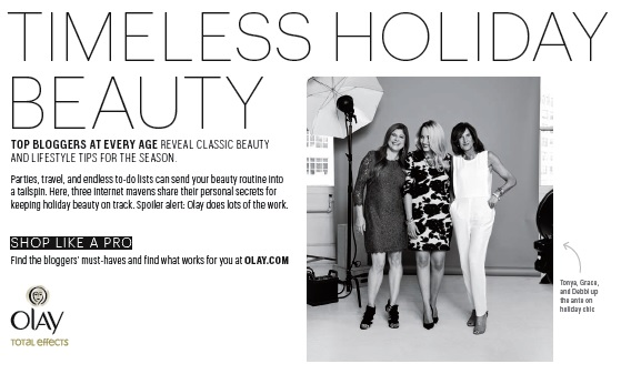 timeless beauty holiday tips ad inside real simple magazine