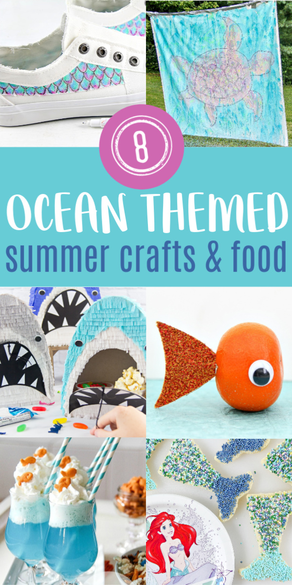 oceans crafts and fun food ideas for kids Pinterest image