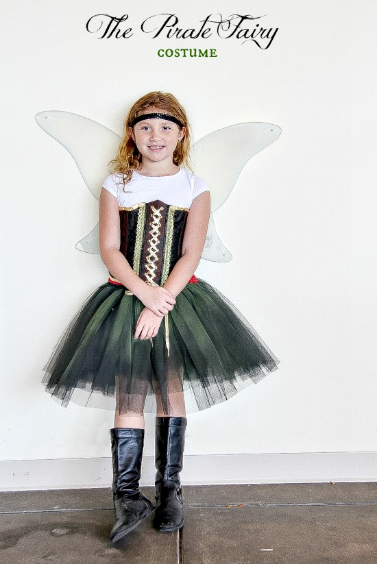 a handmade costume inspired by The Pirate Fairy