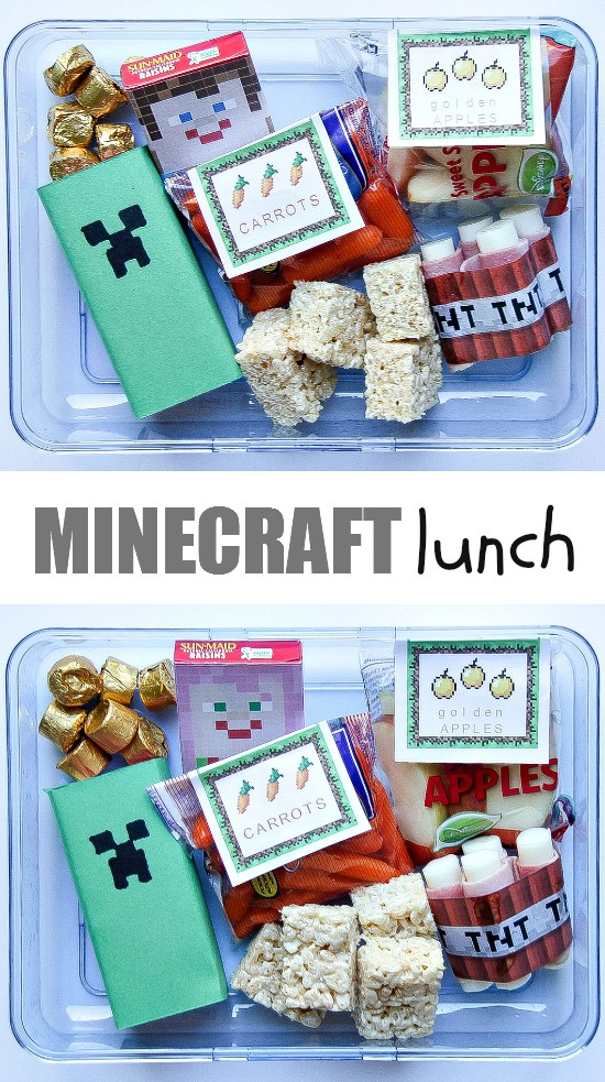 Minecraft lunch box idea for kids