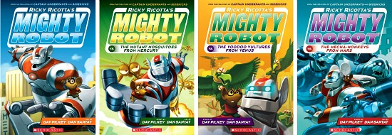 Ricky Ricotta's Might Robot book series
