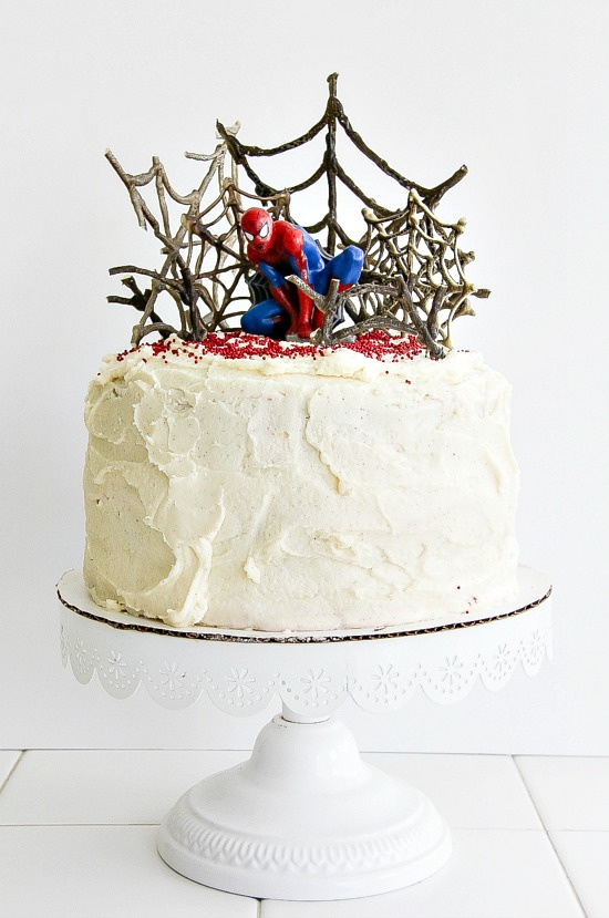 a decorated spider-man cake