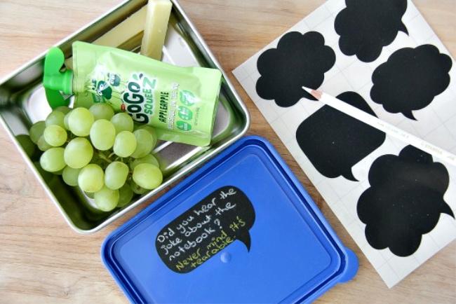 chalkboard lunchbox labels for kids