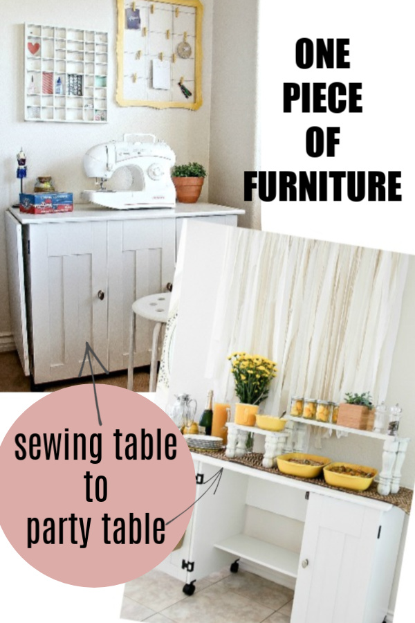 sewing table to party table