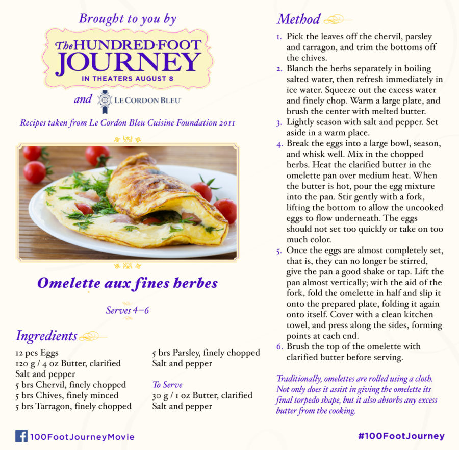 Omelette aux fines herbes recipe inspired by the movie The Hundred-Foot Journey