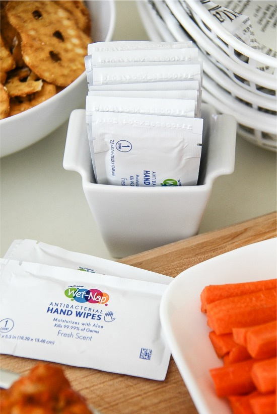 Wet-Nap antibacterial wipes in individual packets