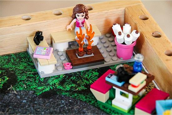 LEGO Friends campfire smores sest