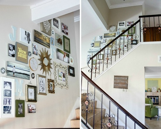 a gallery wall collage