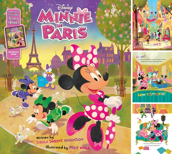 Minnie in Paris book for kids