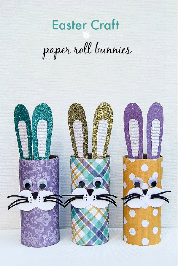 paper roll bunnies easter craft