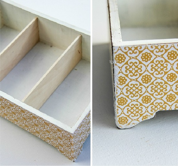 images showing how to attach scrapbook paper to wood