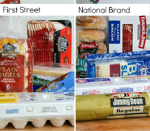 first street breakfast products and national brand breakfast products
