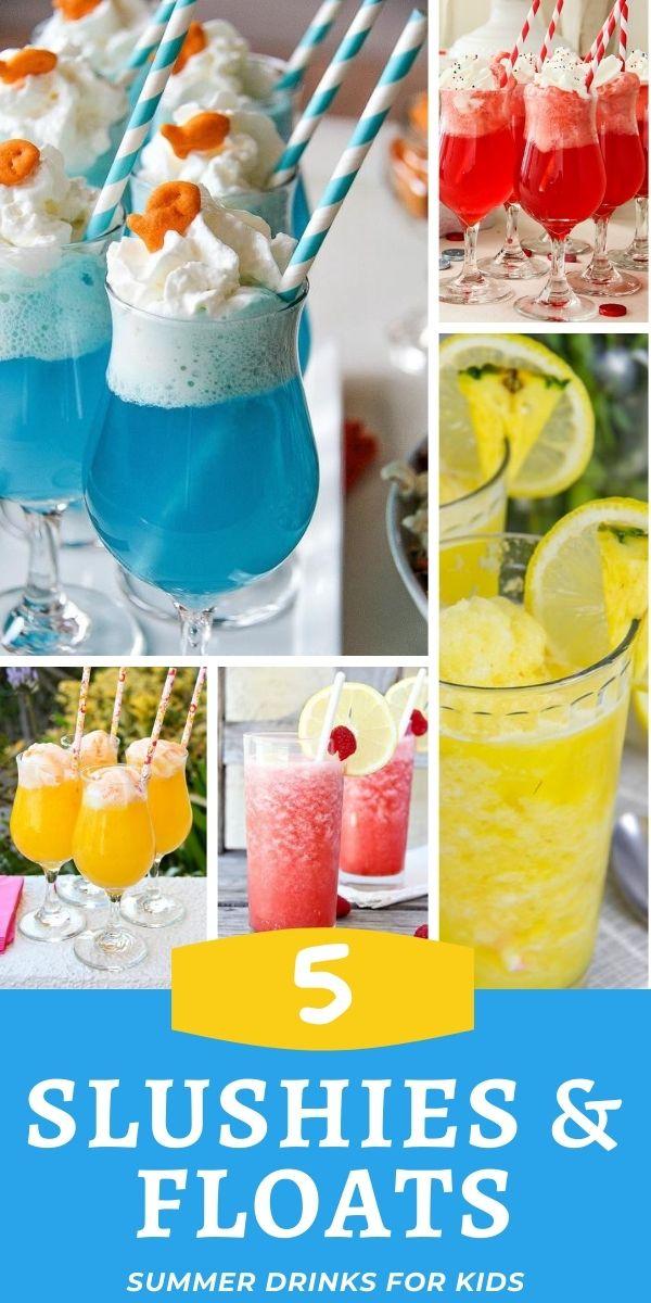 Summer drinks for kids Pinterest image