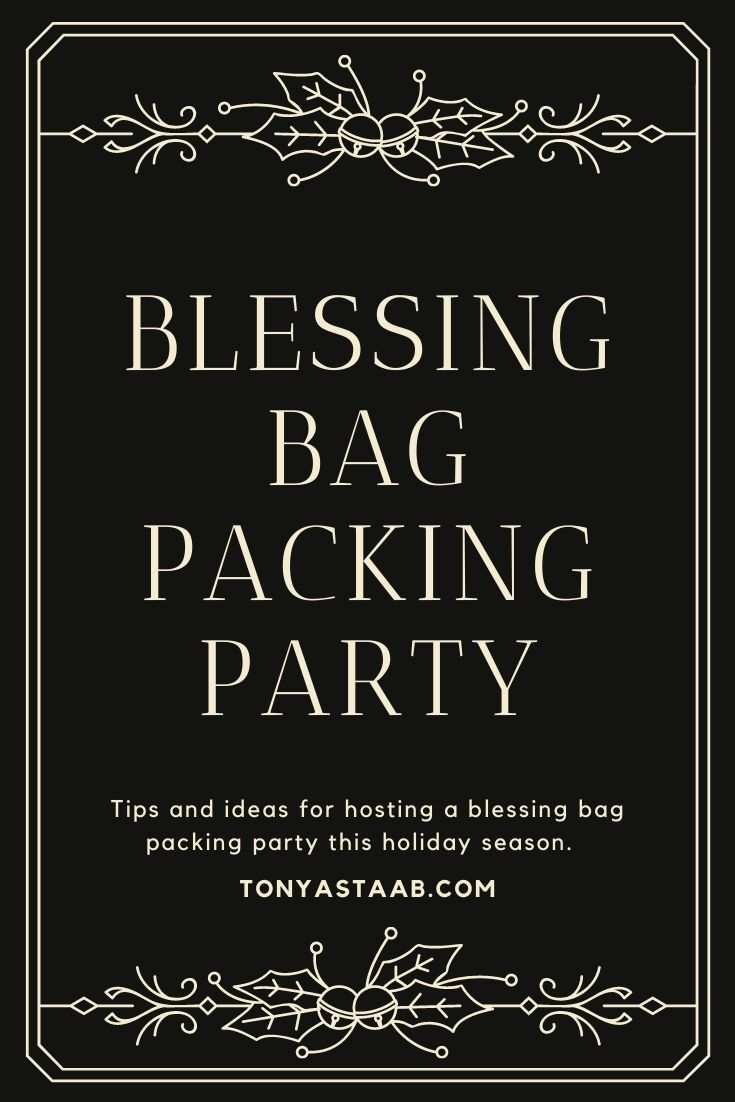 blessing bag packing party ideas