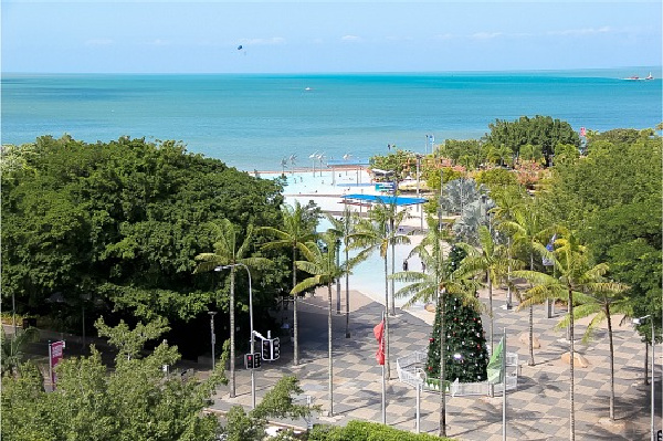 ocean view from the Mantra in Cairns Queensland