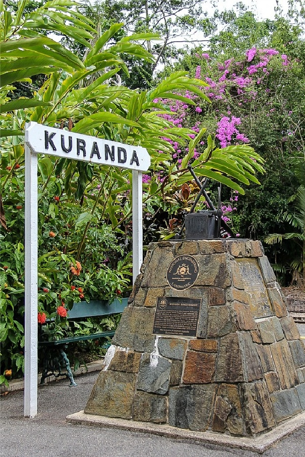 The sign at the entrance to Kuranda