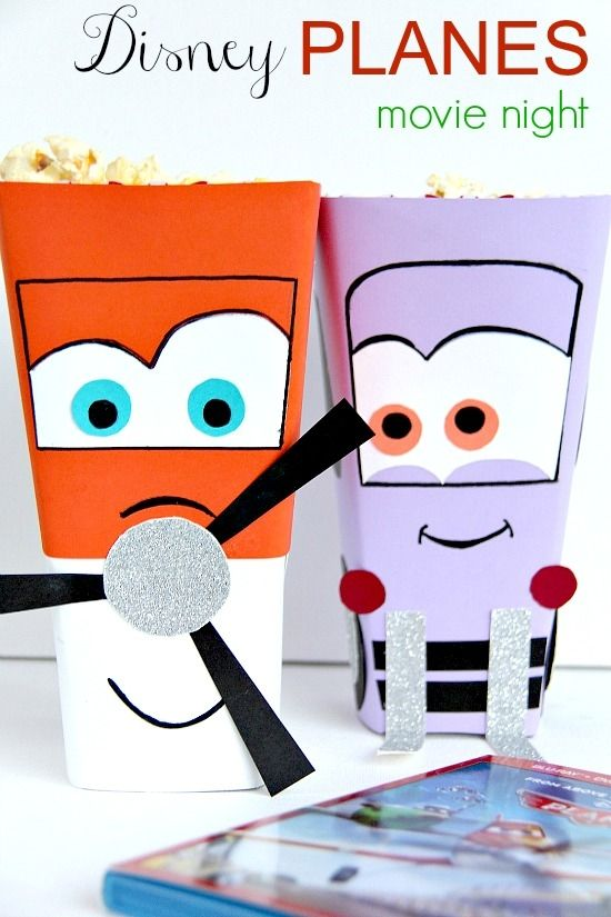 Disney Planes Dottie and Dusty Crophopper popcorn tubs for a movie night