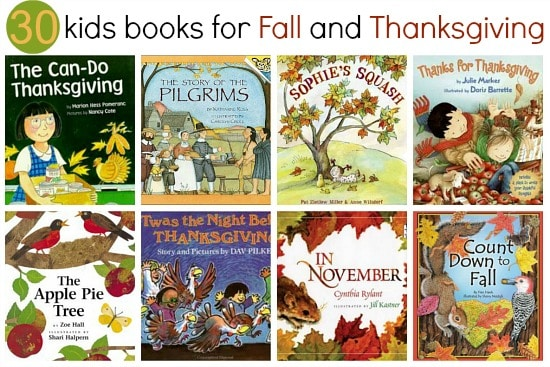 A roundup of fall and Thanksgiving books for kids.