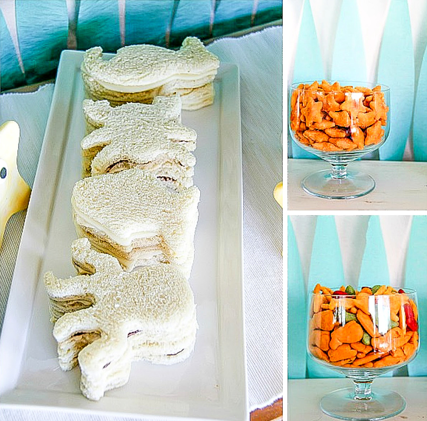 ocean themed sandwiches for a Little Mermaid party