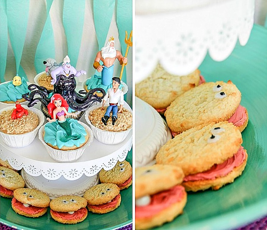 Cookies decorated to look like clams