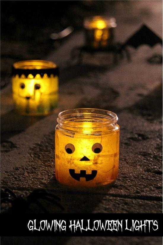 halloween candle light craft