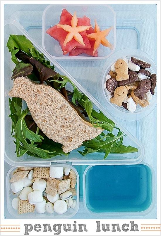 penguin themed lunch box for kids