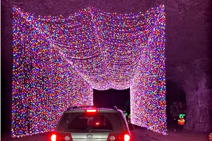 driving through the Lights Under Louisville