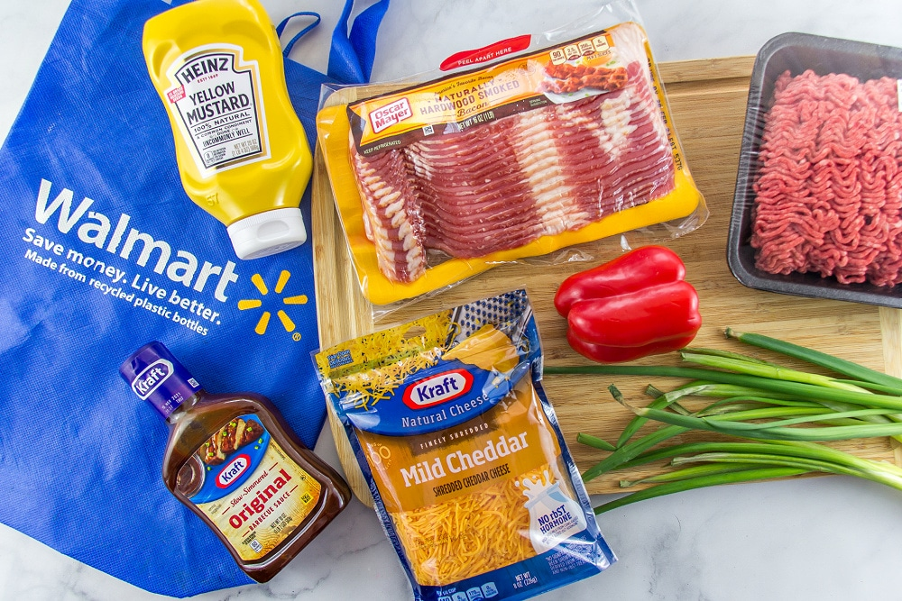 ingredients to make loaded bacon sloppy joe fries
