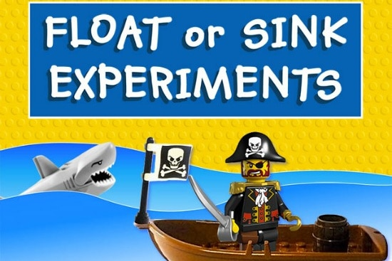 LEGO sink or float experiment for kids to do.