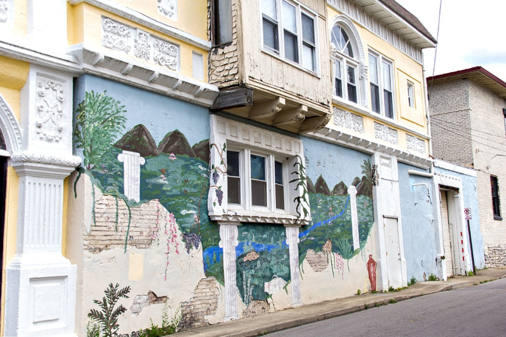 mural on the corner of N Limestone and York Street in Lexington