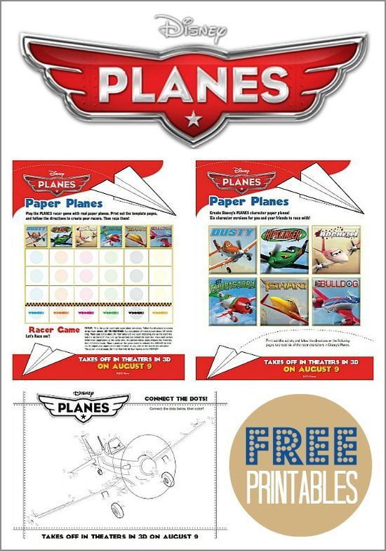 Disney Planes free printable activity and coloring pages for kids.