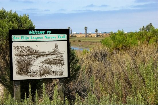Welcome sign at the San Elijo Lagoon Nature Trail
