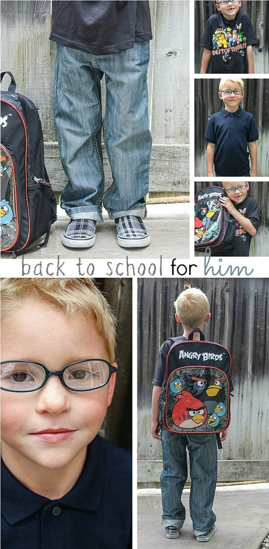 a collage of back to school clothes for boys