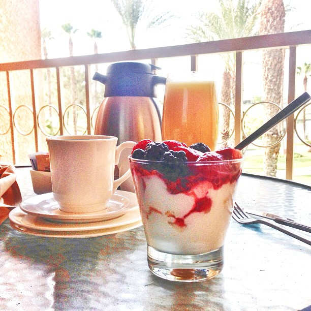 continental breakfast at the Westin Palm Springs.